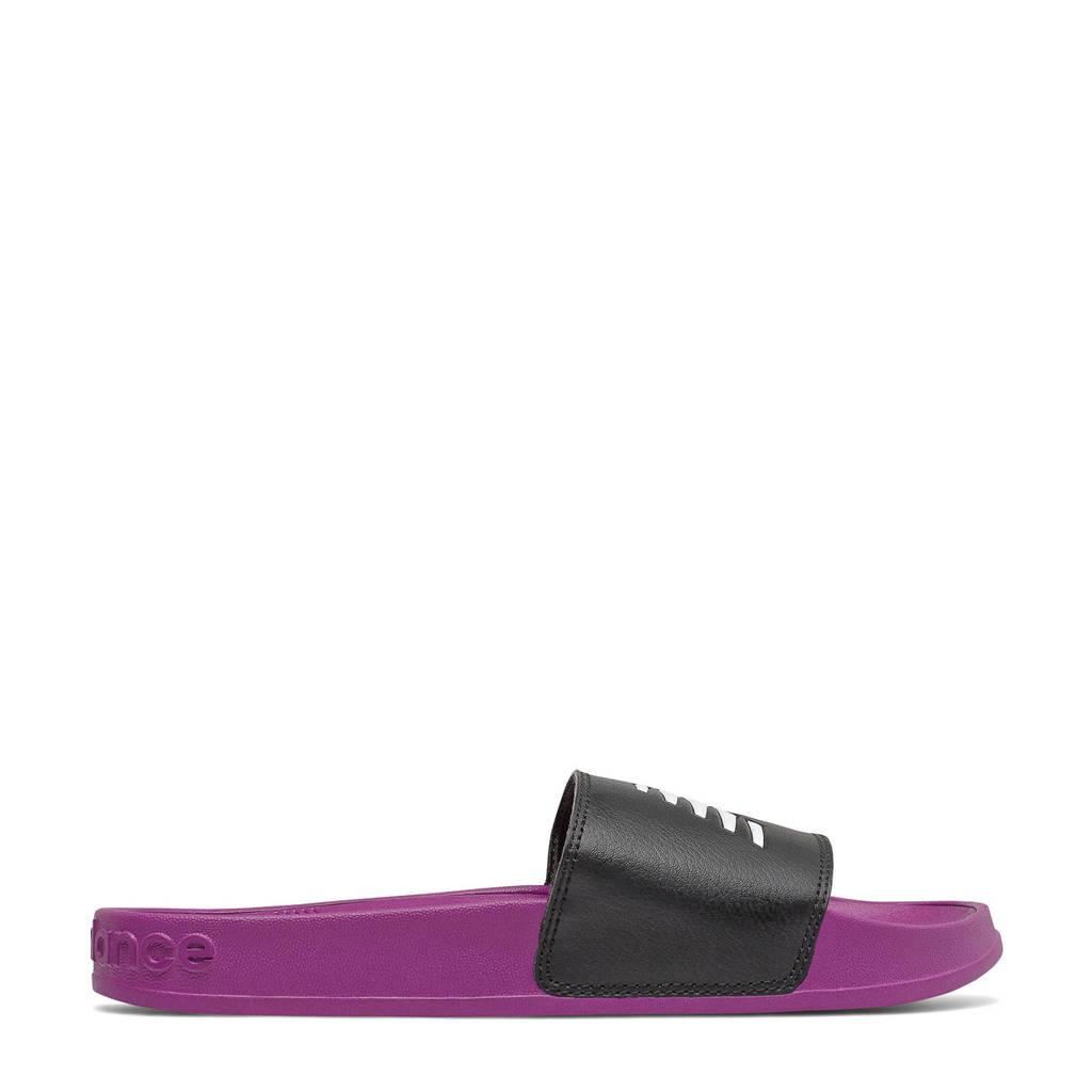New Balance 200  badslippers paars/zwart, Fuchsia/zwart