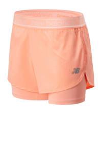 New Balance 2-in-1 sportshort oranje, Oranje