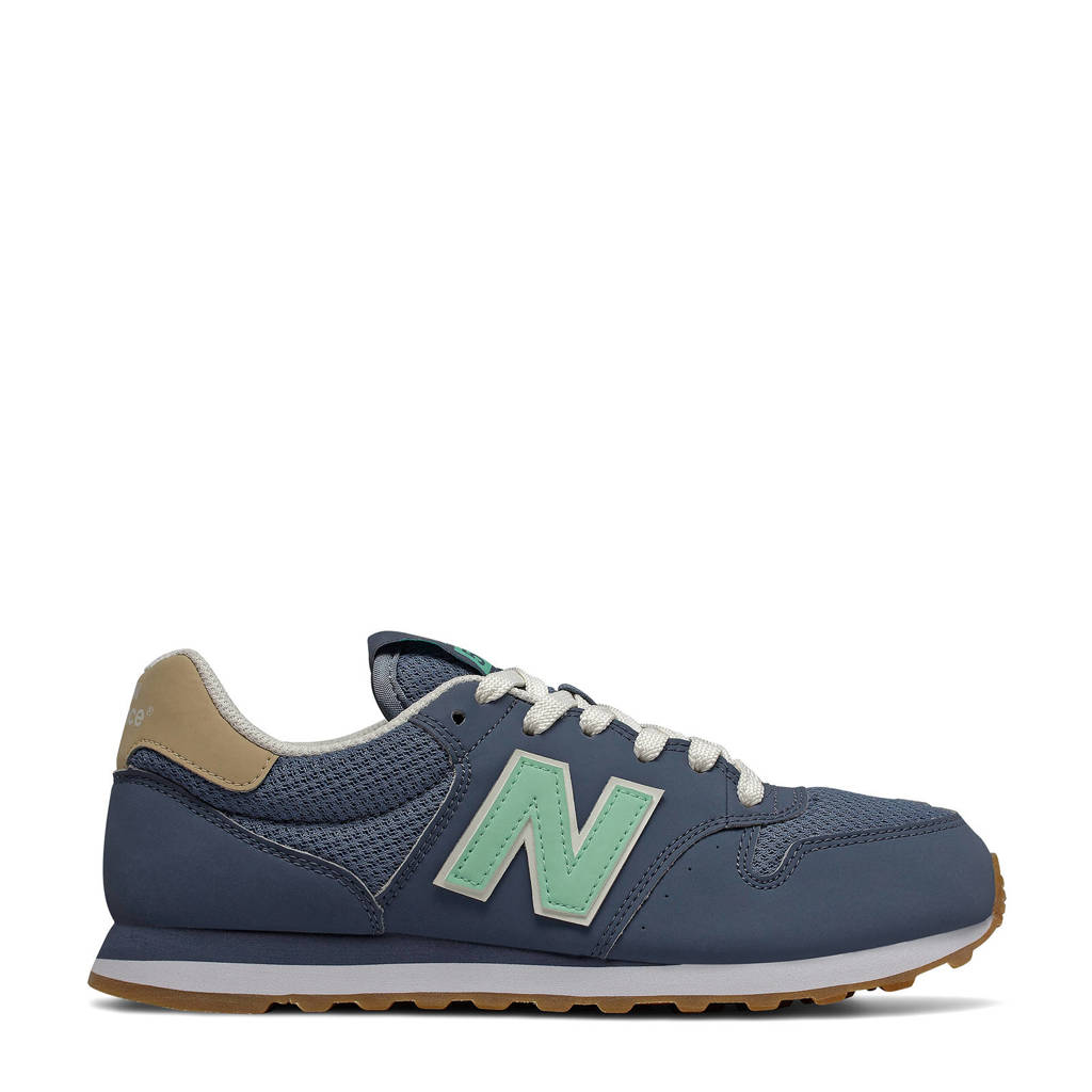New Balance 500  sneakers donkerblauw/mintgroen, Donkerblauw/mintgroen