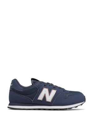 500  sneakers donkerblauw/wit