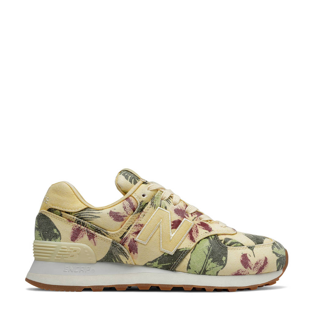 New Balance 574  sneakers met bloemenprint wit/multi, wit multi