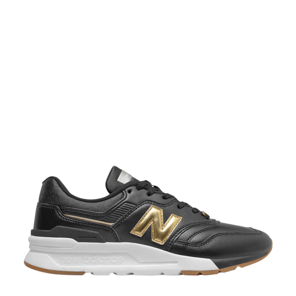 New Balance 997H  leren sneakers zwart/goud, Zwart/goud