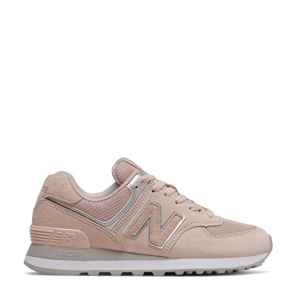 New Balance 574  sneakers lichtroze/zilver, Lichtroze/zilver
