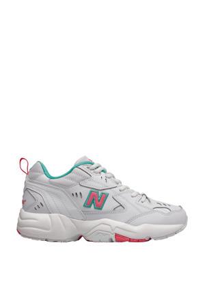 608  tennisschoenen wit/roze/aqua