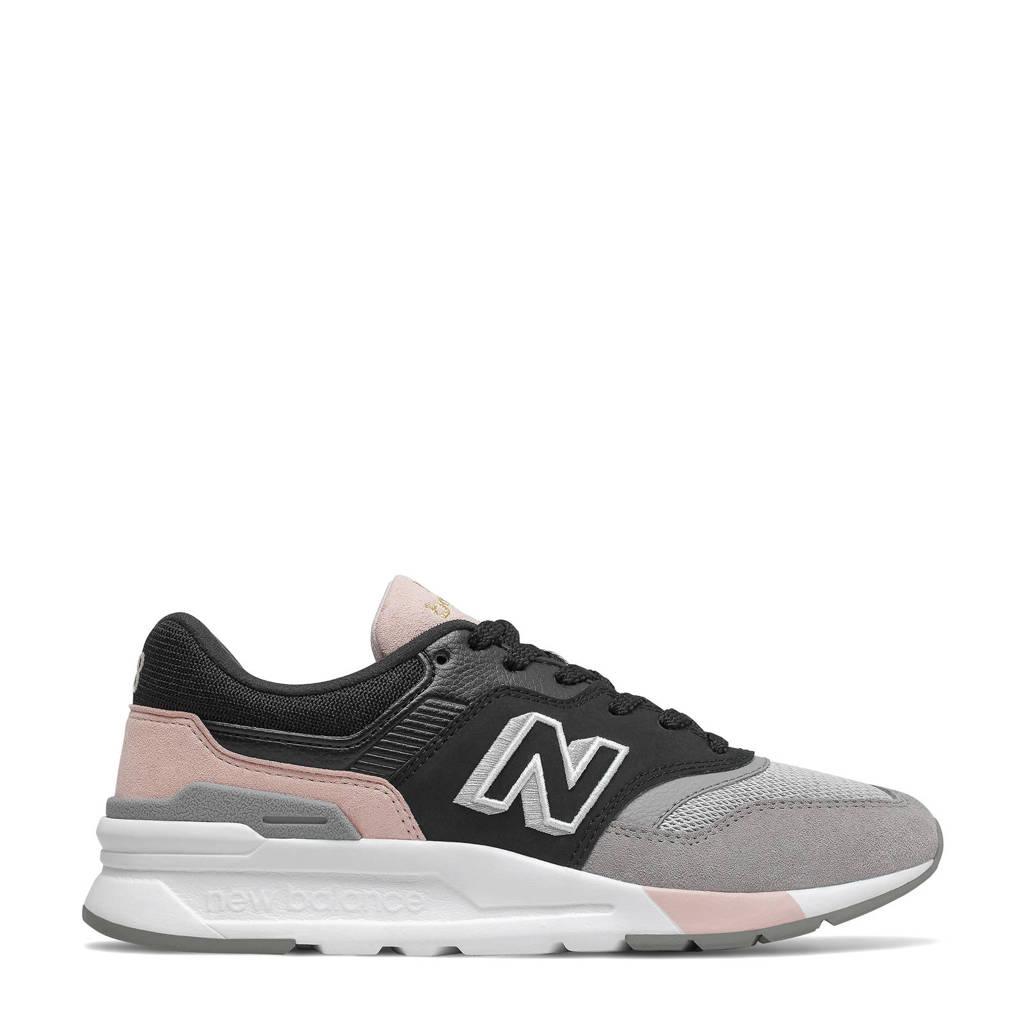 New Balance 997H  sneakers zwart/grijs/roze, Zwart/grijs/roze