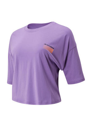 cropped T-shirt paars