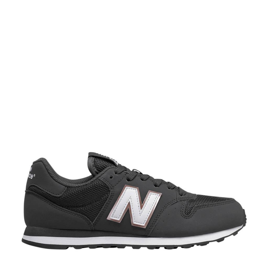 New Balance 500  sneakers zwart/wit, Zwart/wit