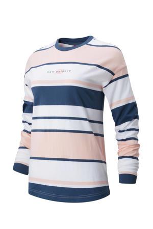 T-shirt donkerblauw/oranje/wit