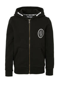 C&A Fortnite vest met contrastbies en 3D applicatie zwart/wit, Zwart/wit