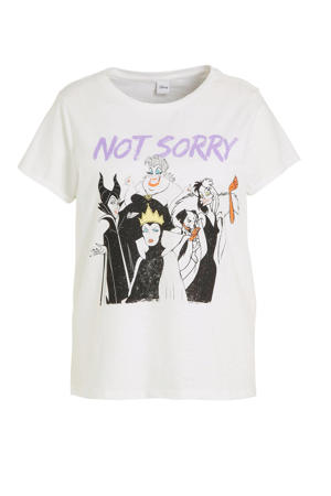 Disney T-shirt met printopdruk wit