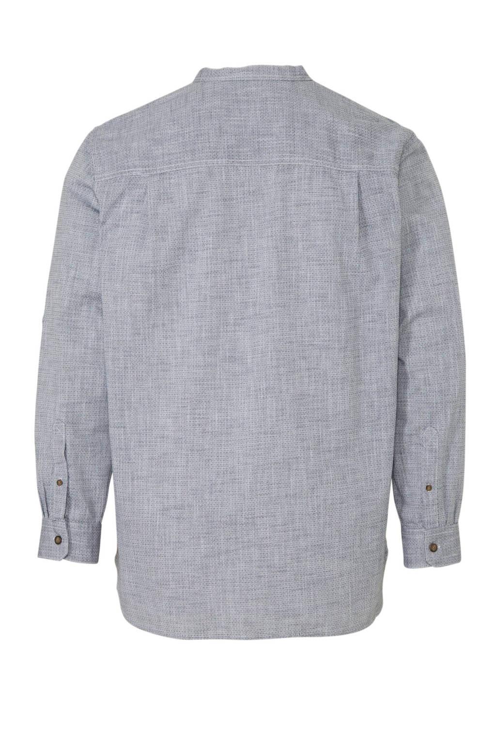 C&A XL Canda gemêleerd regular fit overhemd lichtblauw, Lichtblauw