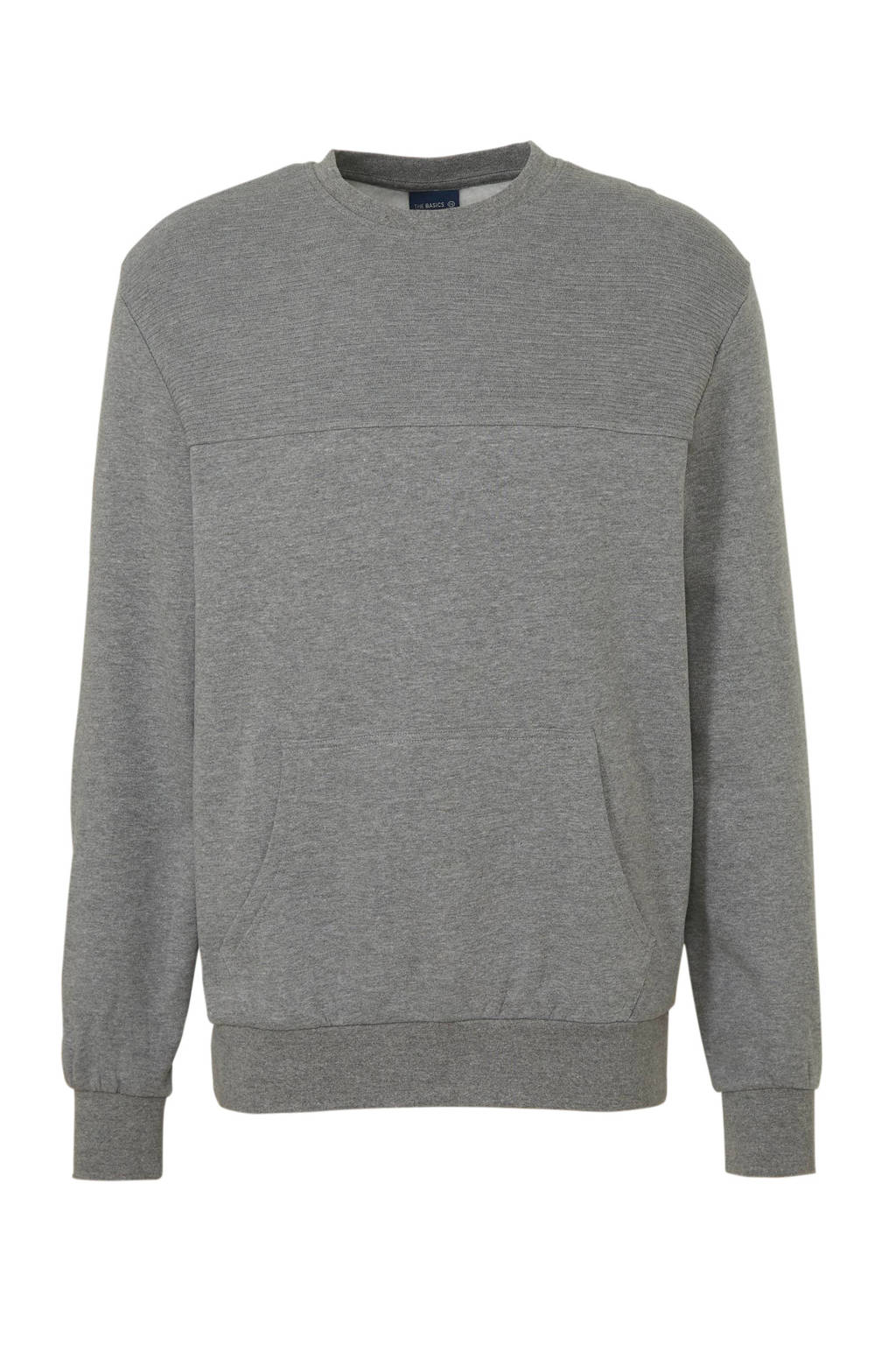 C&A Angelo Litrico gemêleerde sweater grijs, Grijs