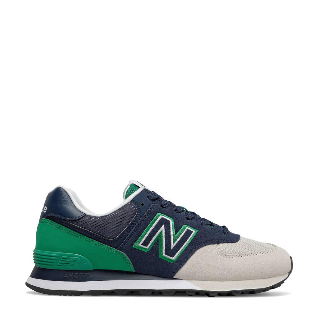 New Balance 574  sneakers zwart/groen, Donkerblauw/groen