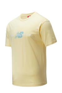 New Balance T-shirt geel, Geel