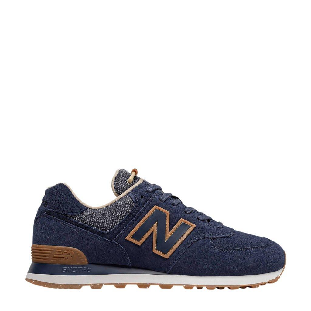 New Balance 574  sneakers donkerblauw/camel, Donkerblauw