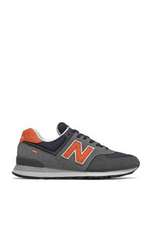 574  sneakers grijs/donkerblauw/oranje