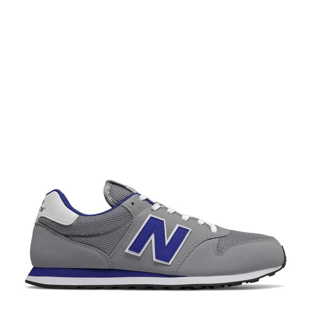 New Balance 500  sneakers grijs/kobaltblauw