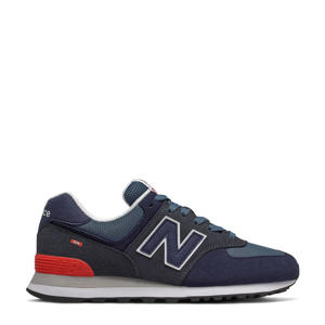 574  sneakers donkerblauw/rood
