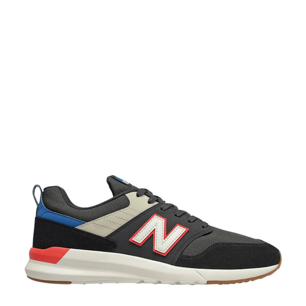New Balance 009  sneakers zwart/grijs/rood, Zwart/grijs/rood