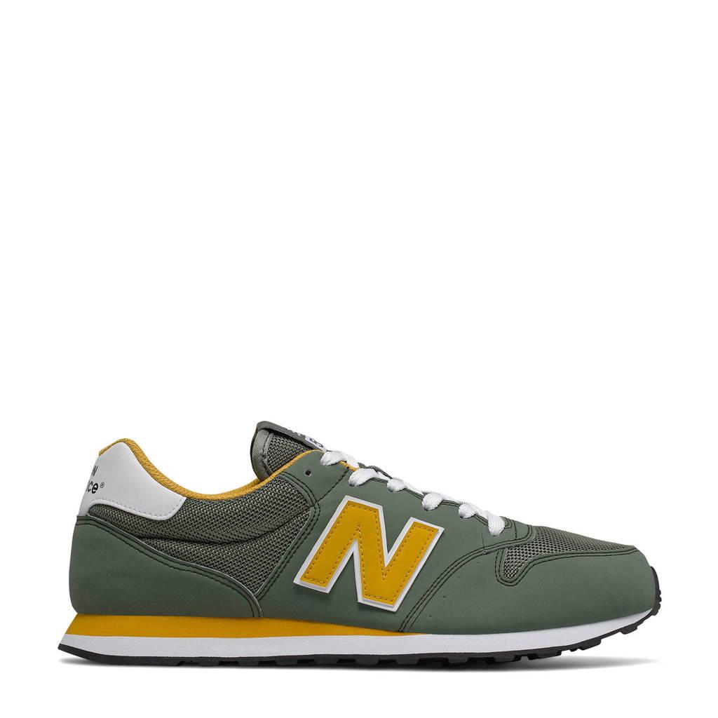 New Balance 500  sneakers kaki/geel, Kaki/geel