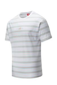 New Balance T-shirt wit/beige, Wit/beige