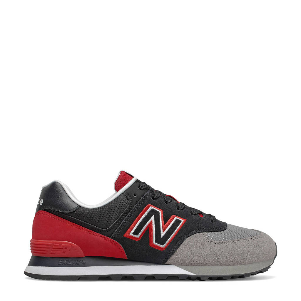 New Balance 574  sneakers grijs/rood, Grijs/rood