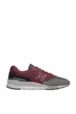 997  sneakers donkerrood/zwart