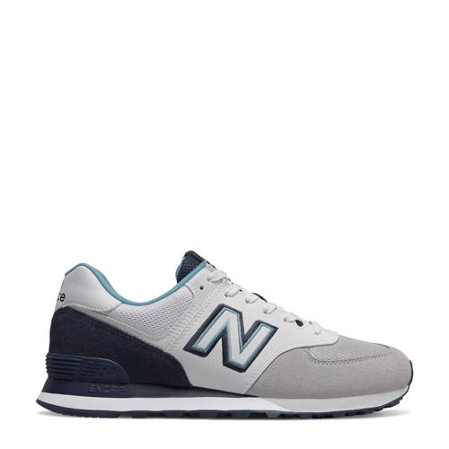 New Balance 574 sneakers wit/donkerblauw