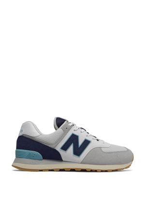 574  sneakers grijs/donkerblauw/lichtblauw