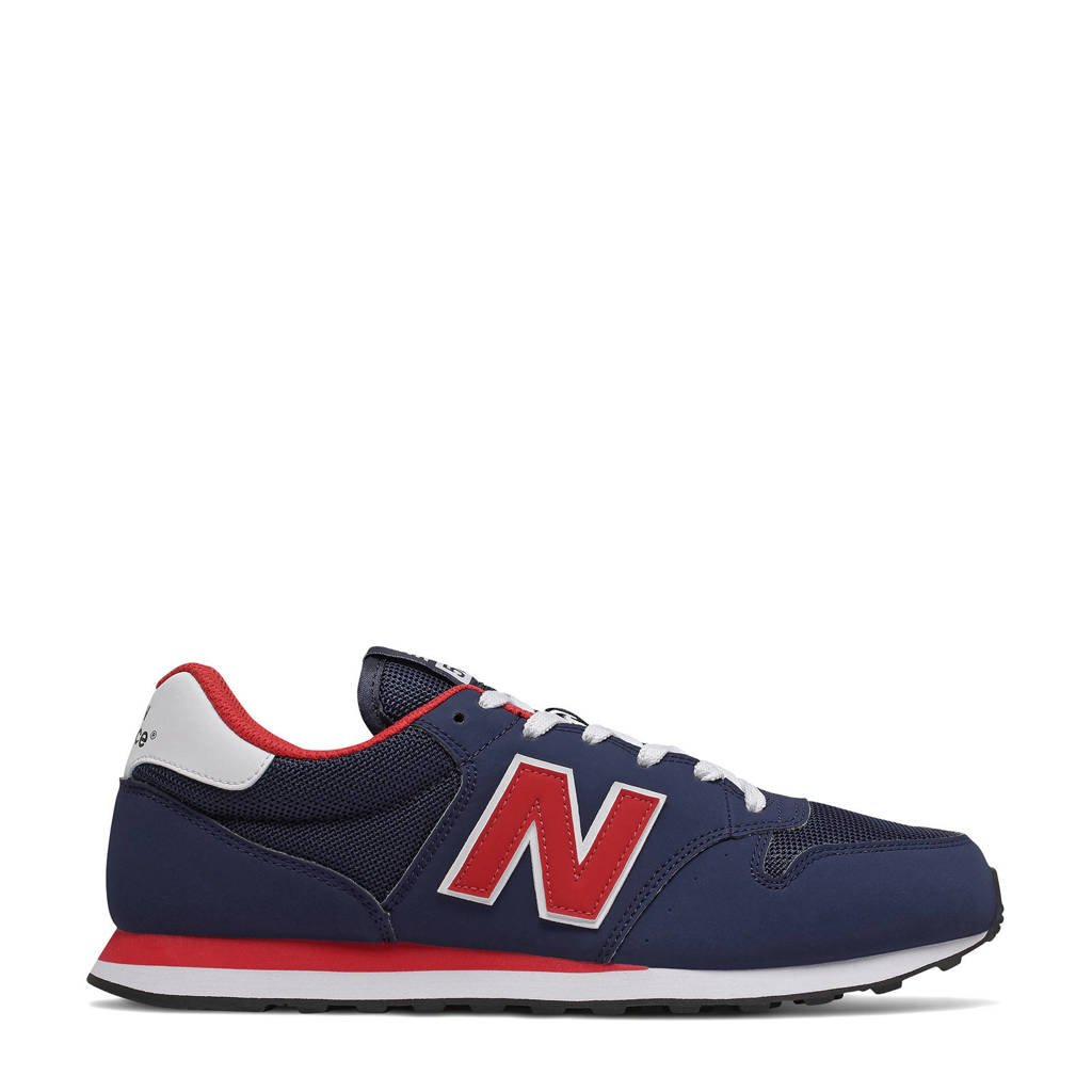 New Balance 500  sneakers donkerblauw/rood/wit, Donkerblauw/rood/wit