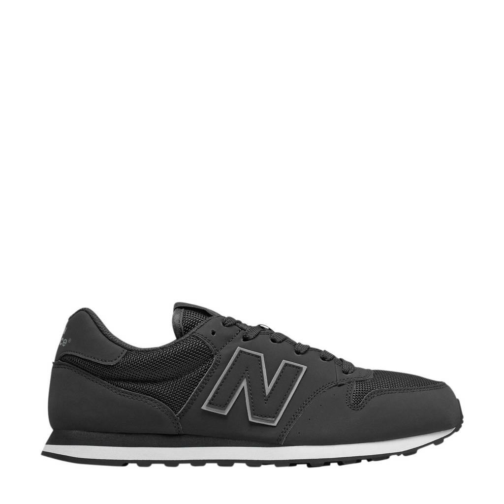 New Balance 500  sneakers zwart, Zwart