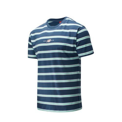 New Balance T-shirt donkerblauw/lichtblauw