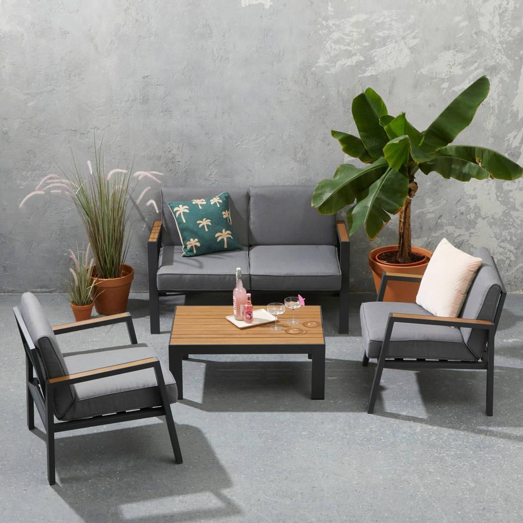 whkmp's own loungeset Luna, Antraciet/lichtgrijs