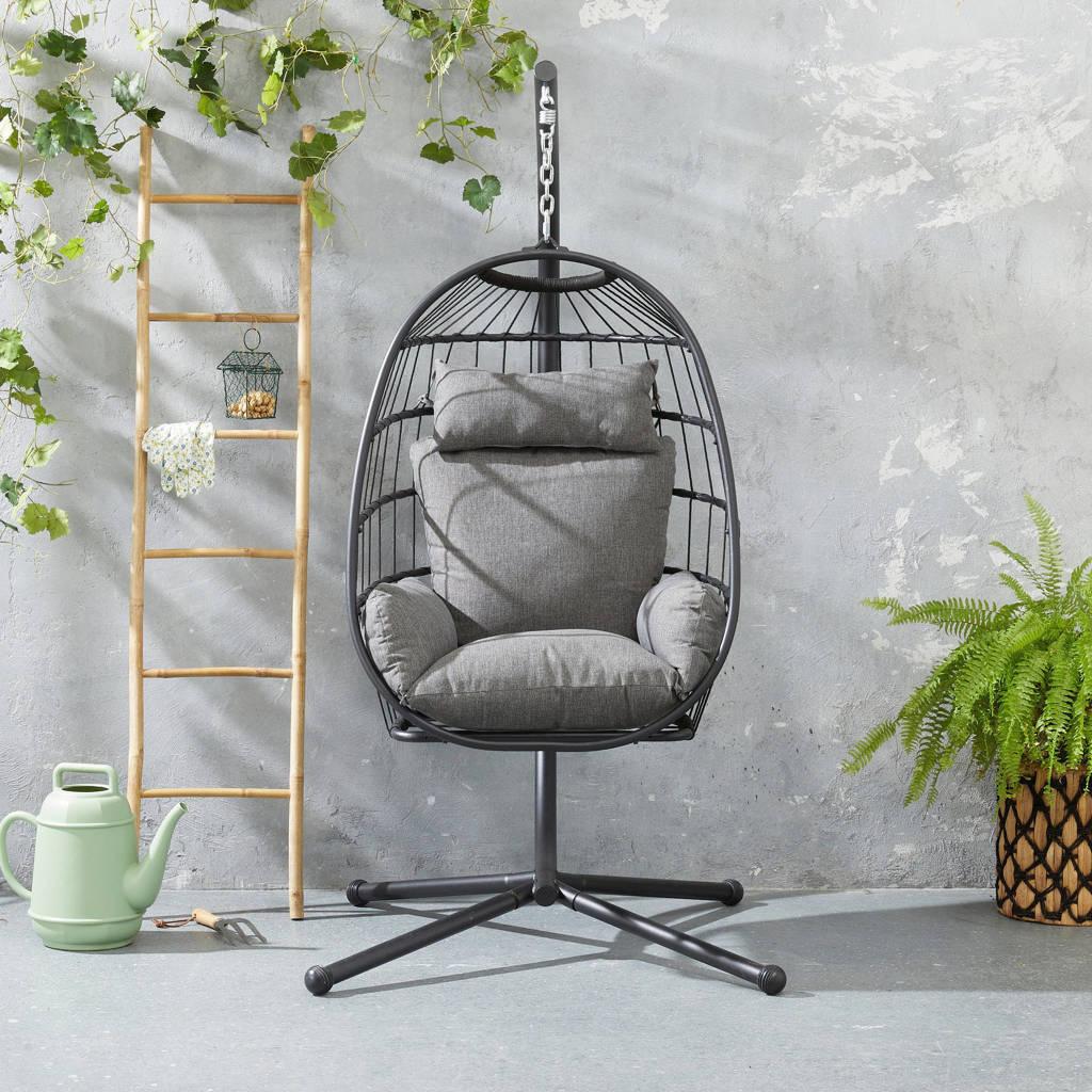 whkmp's own hangstoel Estepona, Zwart/donkergrijs