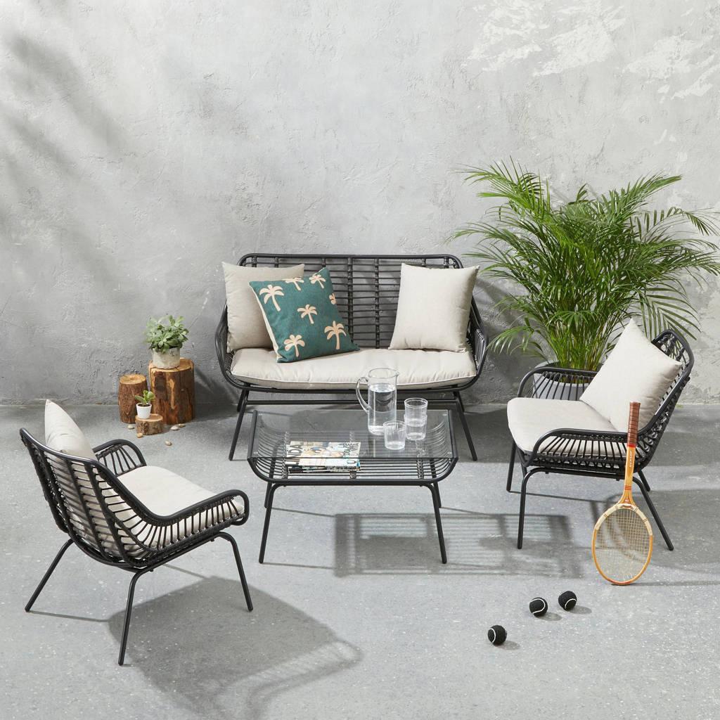 whkmp's own loungeset Cardona, Zwart/lichtbruin