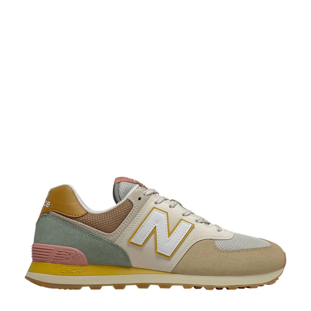 New Balance 574  sneakers bruin/lichtblauw/roze, Bruin/lichtblauw/roze