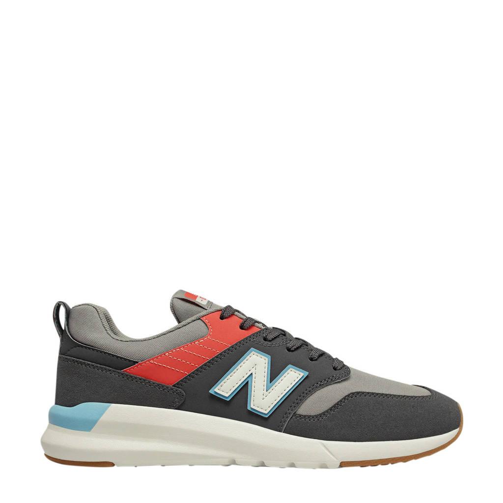 New Balance 009  sneakers grijs/antraciet/rood, Grijs/antraciet/rood