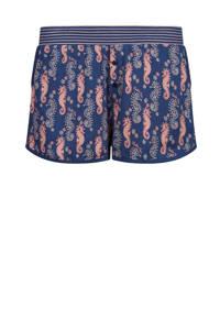 Charlie Choe pyjamashort met all over print blauw, Blauw