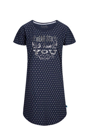 nachthemd in all over print blauw