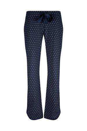 pyjamabroek met all over print blauw