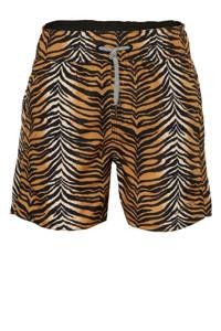 Claesen's zwemshoert met zebraprint bruin, bruin/zwart/wit