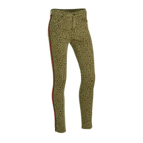 LTB skinny broek Tanya X met panterprint groen/roo
