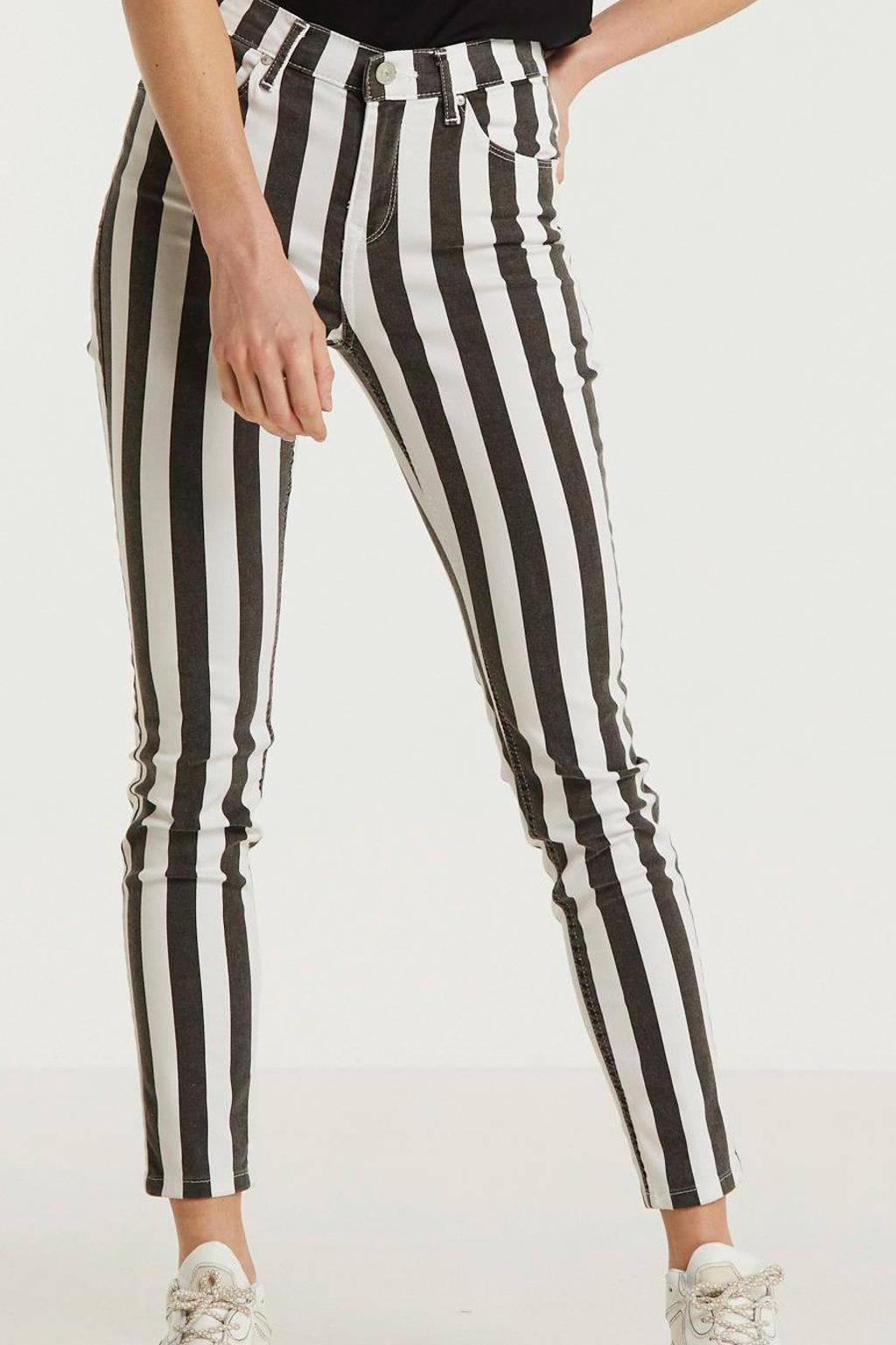 Goede LTB gestreepte high waist skinny broek Tanya X zwart/wit   wehkamp QI-68