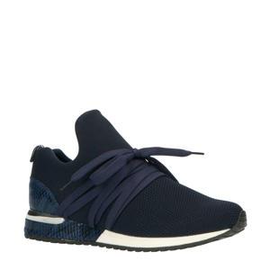 1804297 sneakers donkerblauw/slangenprint