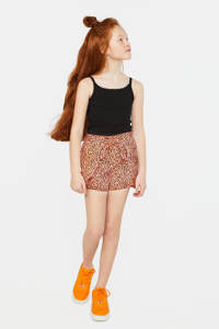 WE Fashion short met panterprint bright coral, Bright Coral