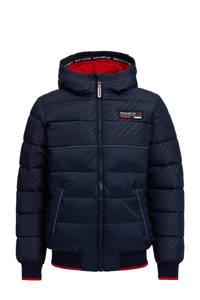 WE Fashion Salty Dog gewatteerde winterjas donkerblauw, Donkerblauw