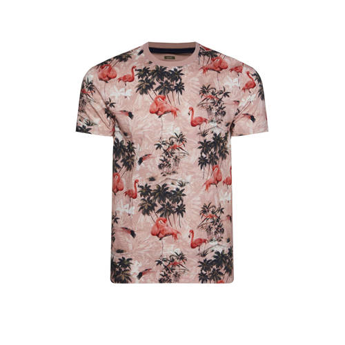 WE Fashion T-shirt met all over print oudroze