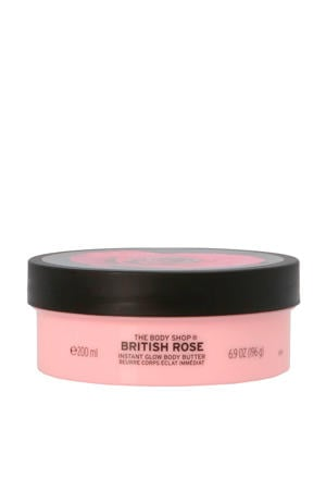 British Rose Instant Glow Body Butter - 200 ml