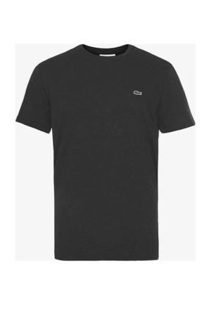 slim fit T-shirt zwart