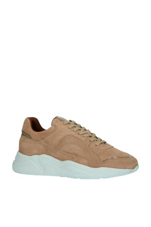 64-71792  suède chunky sneakers lichtbruin
